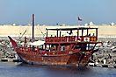 Dhow im Hafen von Muscat